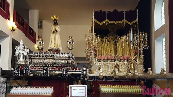 Jesús Cautivo y María Santisima de la Trinidad en la Casa Hermandad - Semana Santa de Málaga de 2016