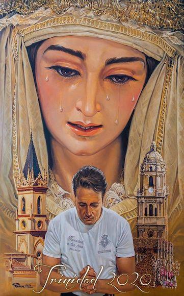 Cartel Trinidad de Málaga en el Lunes Santo de la Semana Santa de Málaga 2020
